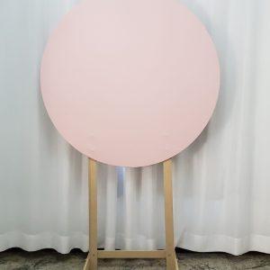 Painel Redondo com Tecido Rosa
