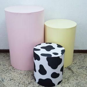 Capas para Trio mesas cilindro cores Fazendinha Menina