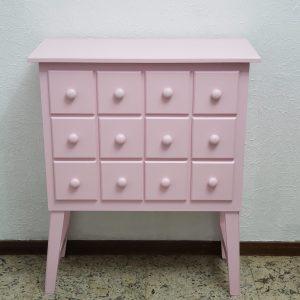 Cômoda Gaveteiro Decorativa Rosa