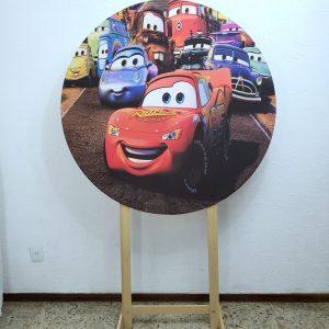 Painel Redondo com Tecido Sublimado Carros