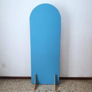 Tecido Para Painel Desconstruído Oval M cor Azul Celeste