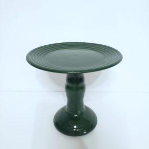 Boleira Cerâmica Alta P cor Verde Escuro