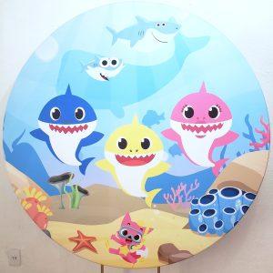 Tecido Sublimado Redondo Baby Shark 1,50mD