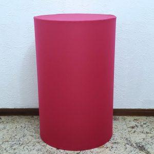 Trio mesas cilindro com capa cores Pink/Rosa