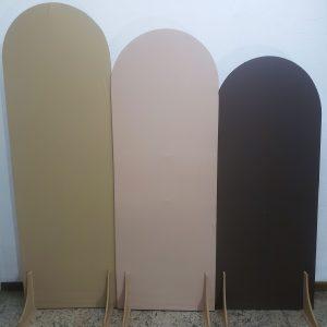Painéis Desconstruídos Ovais com Tecidos cores Bege/Nude/Marrom