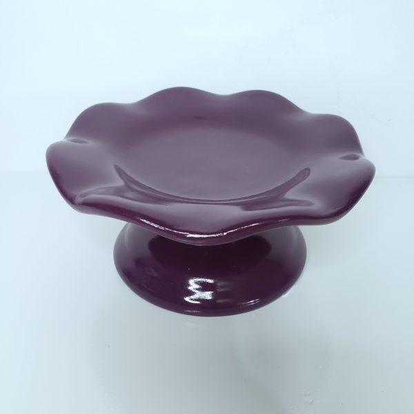 Boleira P ondulada Cerâmica Roxa