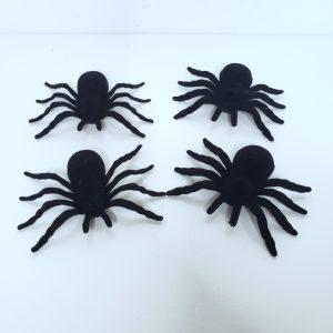 Aranhas Decorativas Halloween 4 unidades
