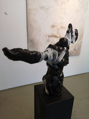 Object by Martin Bloeck with Painting Marc Prat in Wiesbaden