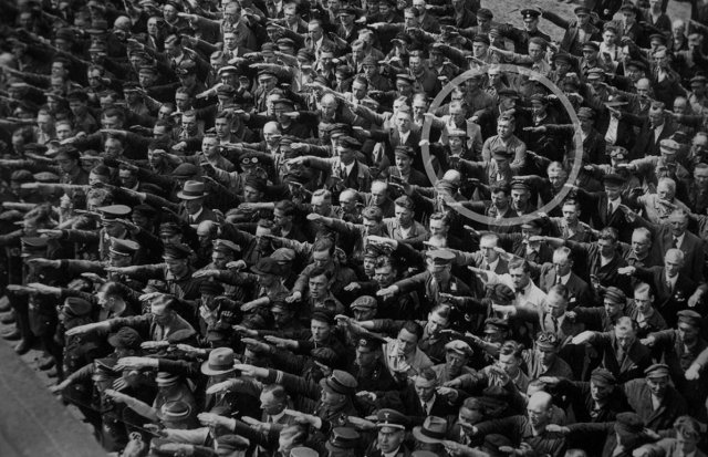 A man believed to be August Landmesser. Photo in Public Domain.