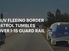 SUV Fleeing Border Patrol Tumbles Over I-15 Guard Rail