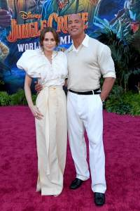 Emily Blunt and Dwayne Johnson - World Premiere Of Disney's Jungle Cruise