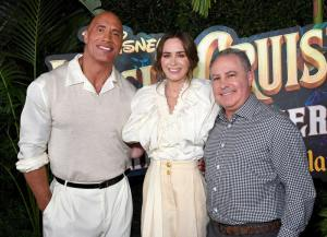 Dwayne Johnson, Emily Blunt, and Content Chairman - World Premiere Of Disney's Jungle Cruise