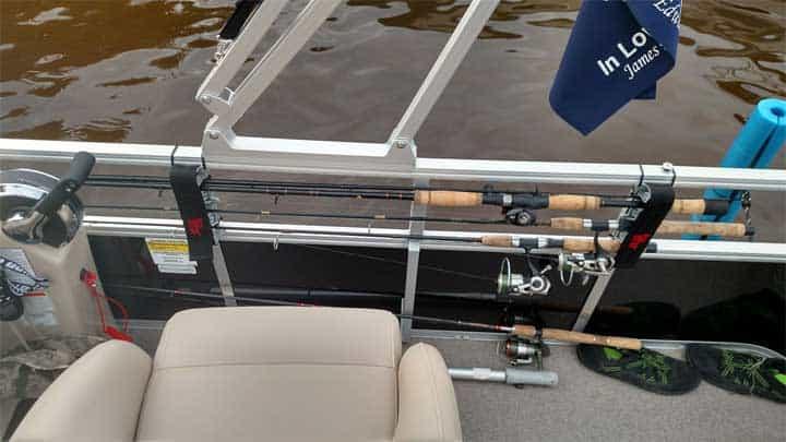 pontoon boat fishing rod storage ideas