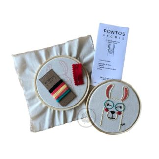 Kit para Bordado Livre - Lhama