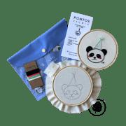 Kit de Bordado Livre de Panda Pontos da Cris