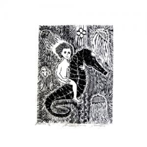 Xilogravura de Mestre Abraão – Cavalo Marinho