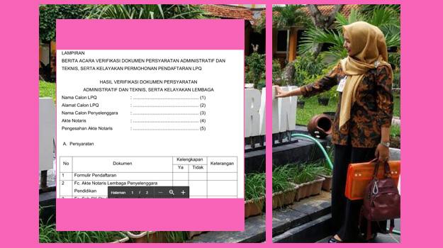 file hasil verifikasi dokumen pendaftaran LPQ