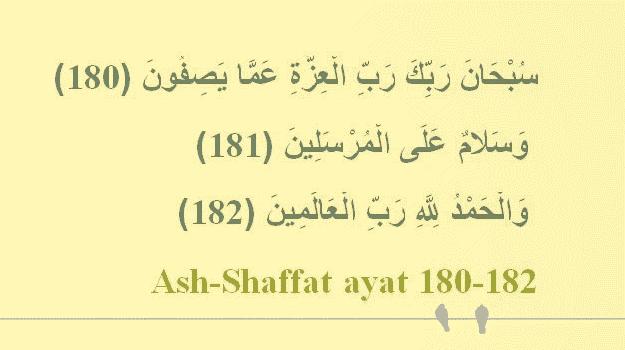 surat ash-shaffat ayat 180 sampai 182
