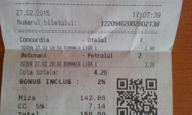 Bilete Pariuri : Stefan a fost inspriat cu Liga 1 !