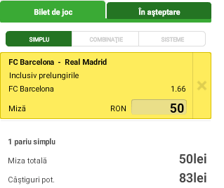 Biletul Zilei - Barcelona vs Real Madrid - ACB Finals