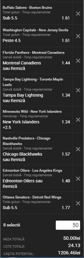 Biletul noptii NHL 29 decembrie 2016