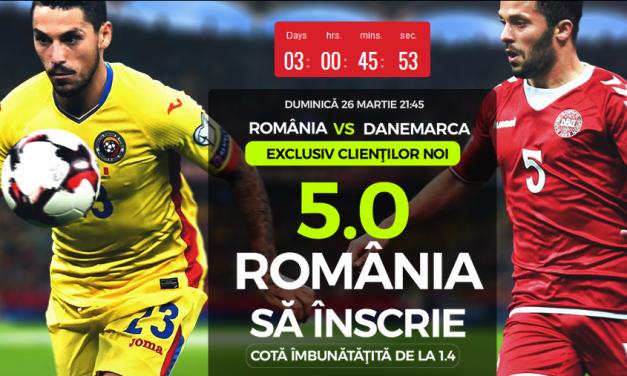 Cota 5.00 ca Romania sa inscrie cu Danemarca