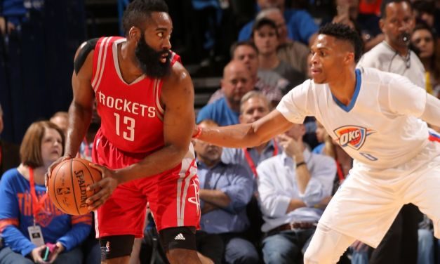 Ponturi NBA Playoffs: Russell Westbrook sau James Harden?