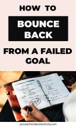 failed goal? Let it make you stronger. Here's how