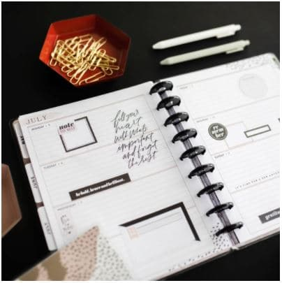 a horizontal style planner from Happy Planner