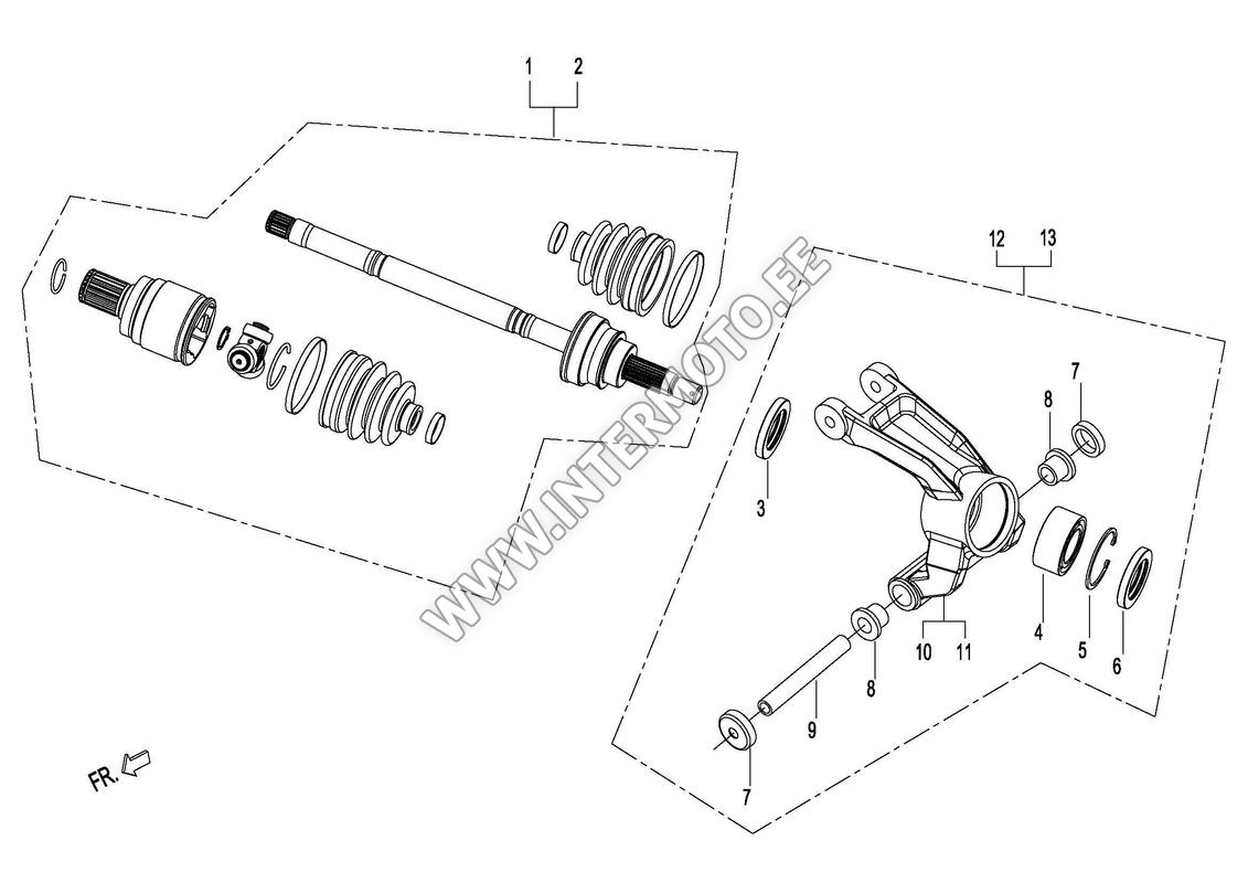 Knuckle Set Hub Wheel Rear