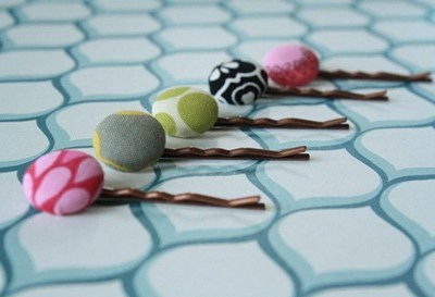 Fabric Button Bobby Pin Tutorial