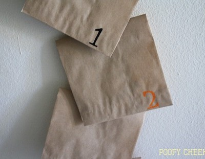 Halloween Countdown Treat Bags