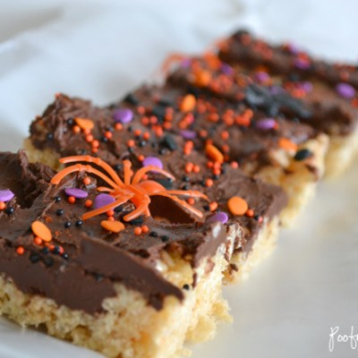 Halloween Nutella Rice Krispie Cereal Treats!