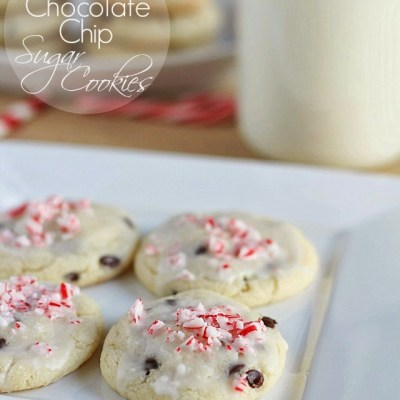 Peppermint Chocolate Chip Sugar Cookies from Yummy Healthy Easy