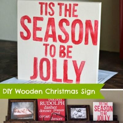 Wooden Christmas Word Decoration – DIY