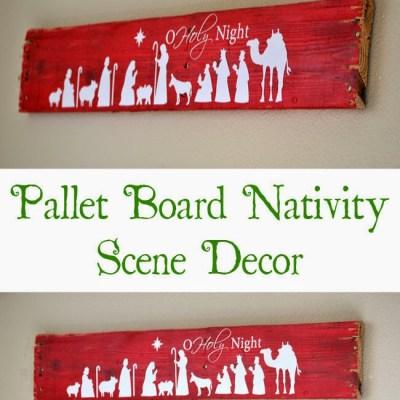 Pallet Board Nativity Decoration