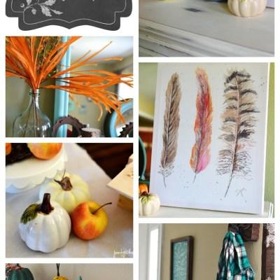 Aqua and Orange Fall Home Tour + Blog Hop