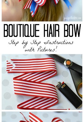 Boutique Hair Bow Tutorial with Step by Step Instructions and Pictures