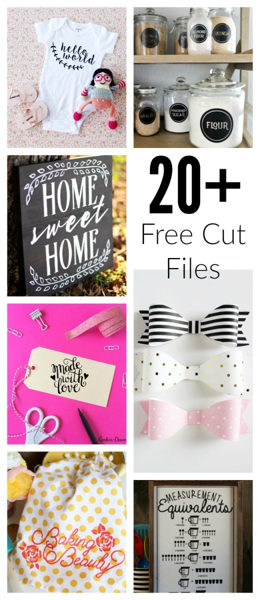 20+ FREE Cut Files for Silhouette and Cricut Cutting Machines