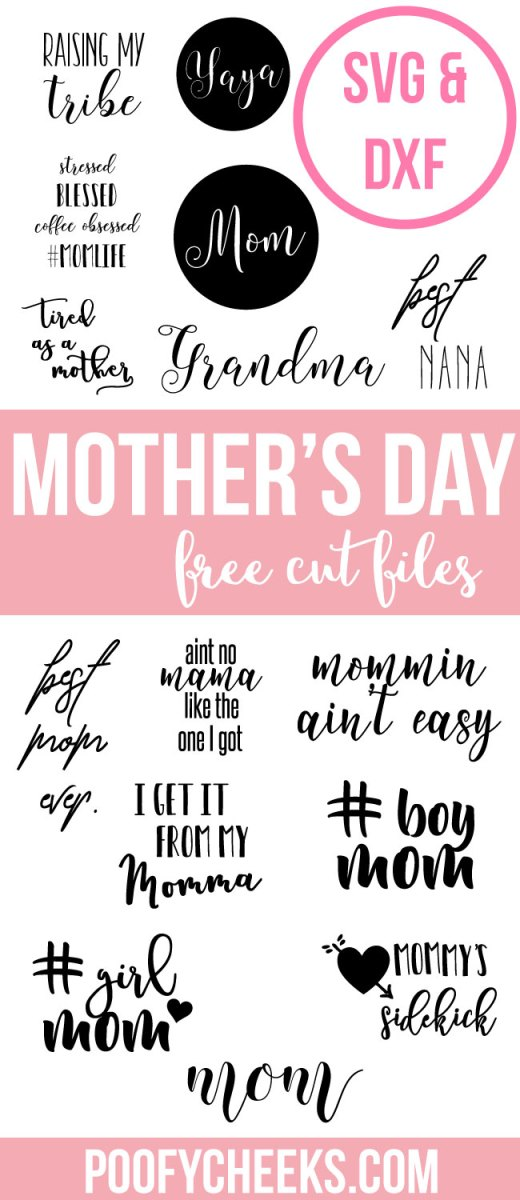 Mother's Day Free Cut Files - DXF and SVG for Silhouette and Cameo