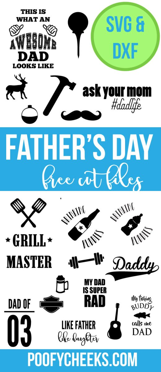 Father's Day Free Cut Files - SVG and DXF for Silhouette and Cricut