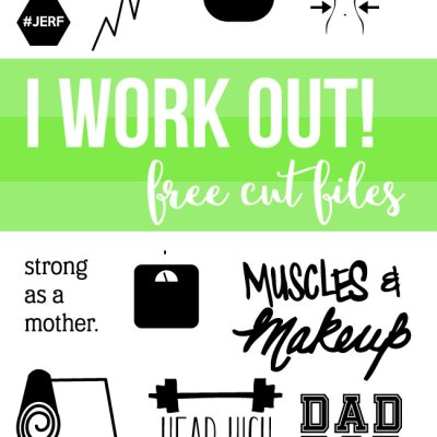 Fitness Cut File Designs for Silhouette and Cricut – Metallic HTV