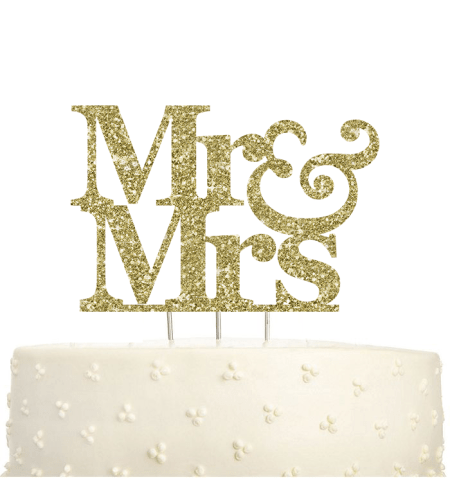 Mr. and Mrs. Cake Topper