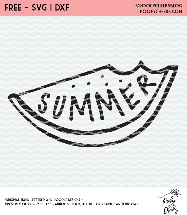 Summer watermelon SVG and DXF for Cricut and Silhouette users. Free cut file in time for summer fun.