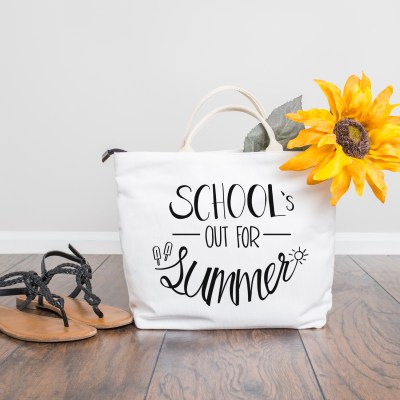 School's Out For Summer – Cut File for Silhouette and Cricut – Free SVG, DXF, PNG