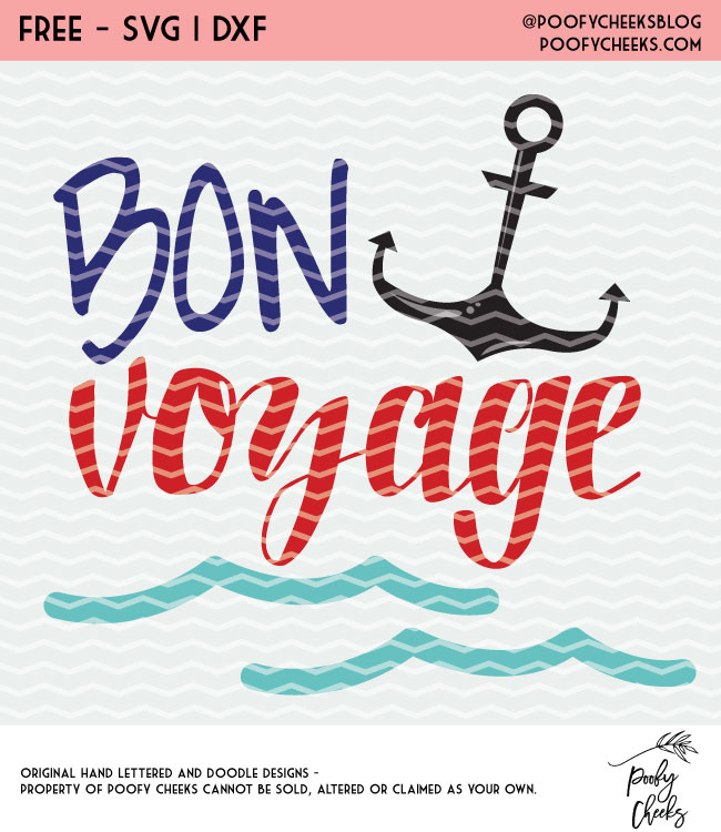 Von Voyage Cut File - Silhouette and Cricut cut file - SVG, DXF, PNG - Summer Vaccation Cut File