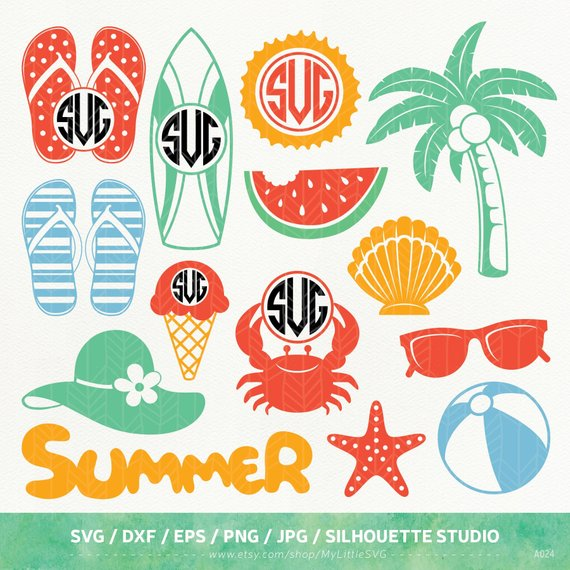Summer Fun Cut Files from ETSY.