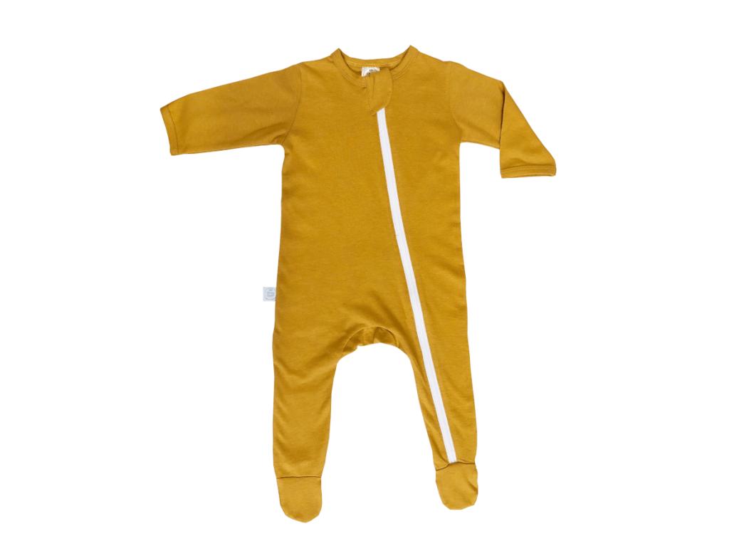 Essential Babygrow Romper Basics Mustard