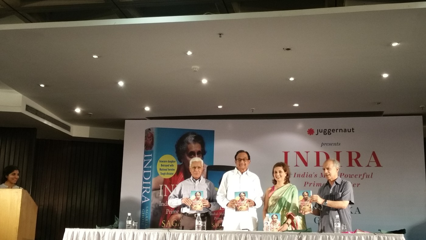 Launch of book Indira by Sagarika Ghose