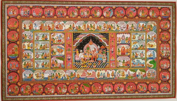 Rāmāyana - a pattachitra painting